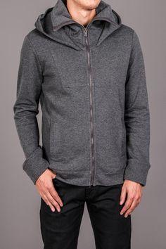 Fleece Mock-neck Sweatshirt in Charcoal