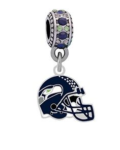 Seattle Seahawks Helmet Charm Fits Most bracelet Lines Including Pandora Chamilia Troll Biagi Zable Kera Personality Reflections Silverado and More >>> For more information, visit image link.