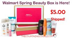 The Walmart SPRING Beauty Box is here! Get a box full of samples and coupons for only $5.00 shipping! There is something for everyone!  Click the link below to get all of the details ► http://www.thecouponingcouple.com/walmart-beauty-box-just-pay-5-shipping/ #Coupons #Couponing #CouponCommunity  Visit us at http://www.thecouponingcouple.com for more great posts!