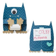 Stampin' Up! Monster Hugs Valentines