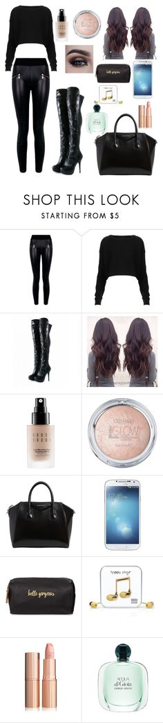 """""""28/02/17"""" by darklover02 ❤ liked on Polyvore featuring Boohoo, Topshop, Iron Fist, Bobbi Brown Cosmetics, Givenchy, Samsung, Neiman Marcus and Happy Plugs"""