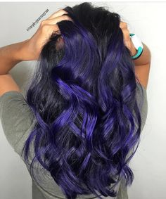 Hairstyles and Beauty: The Internet`s best hairstyles, fashion and makeup pics are here. Beauty Makeup, Hair Makeup, Makeup Pics, Purple Hair Highlights, Rainbow Hair, About Hair, Cool Hairstyles, Women Wear, Hair Color