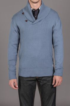 Di Lascias Bakery Matto Pullover Sweater with Leather Button Detail & Suede Elbow Patches