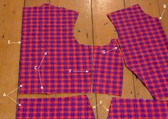A detailed guide to cutting checks and plaids (from Pattern Scissors Cloth)