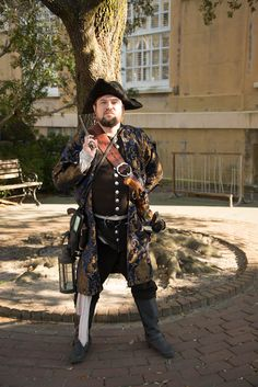"""A pirate reenactor in Charleston, SC. For more pictures of this city, see """"Charleston: America's heartbreaking historic treasure"""" on hobble creek.us."""