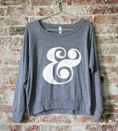 Ampersand Women's Raglan Pullover | A vintage-style ampersand adorns this comfy American Apparel p... | Sweatshirts