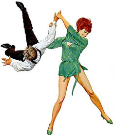 Robert McGinnis--I'm not sure what the context is but this makes me imagine Joan performing judo on Don Draper.