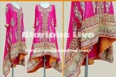 Pretty Pink dress heavily ornamented with silver and golden work looks stunning.. Full heavy embellishment of kora and dabka on front and damaan work on back ...Shirt has sequins work scattered all over and orange banarsi jamawar applique used on damaan border...