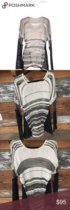 Helmut Lang Knitted Sweater Size Small Helmut Lang Knitted Sweater Size Small ! Composition: 67% Silk, 20% Alpaca wool, 6% Nylon, 4% Linen, 3% Polyamide Helmut Lang Sweaters