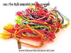 Pulseras de colores fluor y calaveras, Fluo Skull, de Eleonor de Casanovas. Sorteo de pulseras gratis con Increible pero cierzo