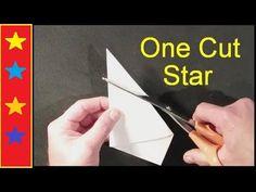 Easy way To Make Paper Star - Paper Craft - Handmade Star - Home Decor Folded Paper Stars, 3d Paper Star, Star Stencil, Stencils, How To Make Stars, Star Template, Fabric Stars, Star Diy, Stars Craft