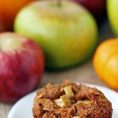 Pumpkin Apple Muffin Recipe (Gluten Free, Dairy Free, Vegan) Recipe Breakfast and Brunch, Breads with flax egg, flax seeds, water, almond flour, gluten-free oat, brown sugar, pumpkin pie spice, baking soda, baking powder, apples, pumpkin, grapeseed oil, vanilla