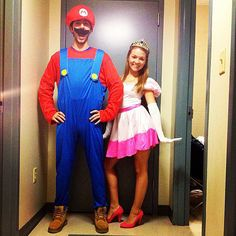 Mario and Peach. Except add balloons tied around our waists to make it like Mario-Kart ;)