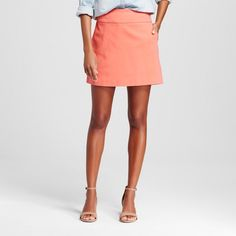 Women's Solid Pull-on Skort with Pockets - Zac & Rachel