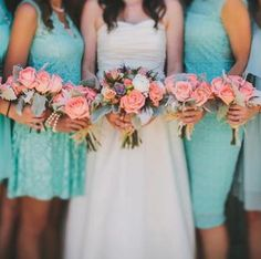 Wedding Colors Turquoise and Coral; love love love! How do you get your fiancé to agree to these colors though!?