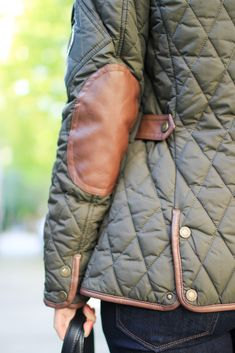 The perfect petite jacket for Fall | Quilted Jacket with Faux Leather