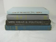 Vintage BLUE & GRAY BOOKS Instant Collection by LavenderGardenCottag