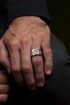 Gift for Men Christmas Gift for Him Anchor Ring Mens Ring | Etsy