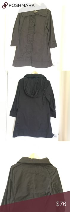 Black rainforest packable travel rain coat Black color, used in good condition. RAINFOREST Jackets & Coats Trench Coats