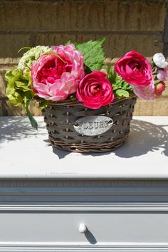 Fleurs Rattan Planter Online Gift Shop, Online Gifts, Rattan Planters, Planter Pots, Shabby Chic, Gardens, Flowers, Wedding, Home Decor
