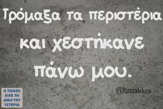 Τρόμαξα τα περιστέρια... - Ο τοίχος είχε τη δική του υστερία –  #batzalakos