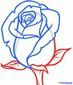 how+to+draw+a+rose | How to Draw a Rose Bud, Rose Bud, Step by Step, Flowers, Pop Culture ...