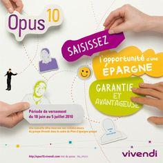 Vivendi, brochure Opus10 (actionnariat salarié). Raoul Sinier - graphiste/illustrateur freelance