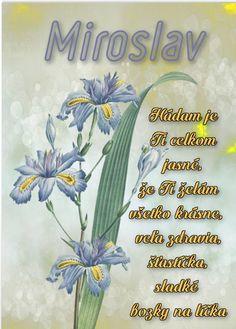 Miroslav Hádam je Ti celkom jasné, že Ti želám všetko krásne, veľa zdravia, šťastíčka, sladké bozky na líčka Flower Aesthetic, Happy Birthday, Tableware, Flowers, Humor, Facebook, Happy Brithday, Dinnerware, Urari La Multi Ani