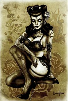 #Zombie #PinUp #PossibleTattoo
