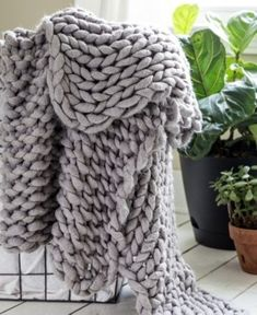 Chunky Knit Throw Bedding