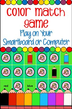 A great way to review colors with your Pre-K and Kindergarten students! Played on Smartboard or Computer this is a great whole group or small group activity.
