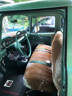 Cool cowhide truck seats
