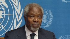 "The Kofi Annan resignation represents the end of the alleged diplomatic phase (August 2nd 2012). >>> The job of peace talks with Assad fell to Bahrimi, and now De Mistura. As of 2015, over 220,000 Syrians have been killed; 8 million are internally displaced; 3,771 lie dead at the bottom of the Mediterranean; 4 million are refugees; and life expectancy has dropped by 20 years, to age 55. And our politicians call Syrian civilians ""terrorists""!"