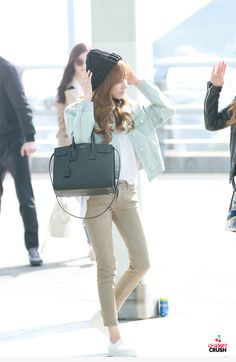 SNSD Tiffany Airport Fashion 150320 2015
