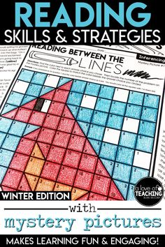 Students will love practicing important reading skills and strategies with these winter-themed color-by-code mystery picture grids and practice sheets! You'll love the ease of planning! Just PRINT & GO!  Need a day off or a sick day at home? This is a great resource to leave a substitute's lesson plans!  Six different reading skills are included with matching mystery picture grids.  Inferencing, Summarizing, Characterization, Theme, Main Idea, and Context Clues!