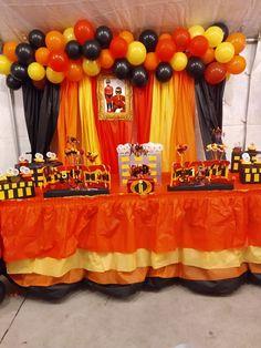2nd Birthday Boys, 4th Birthday Parties, Birthday Party Decorations, Incredibles Birthday Party, Superhero Birthday Party, Construction Birthday, Baby Party, First Birthdays, 1