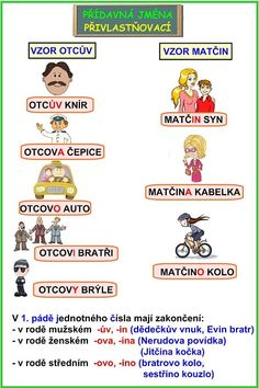 DRUHY PŘÍDAVNÝCH JMEN English Language, Grammar, Elementary Schools, Montessori, Worksheets, Homeschool, Teacher, Activities, Education