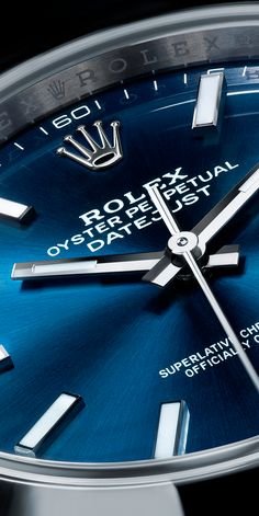 Rolex Watches New Collection : The rich blue dial of the Rolex Datejust - Watches Topia - Watches: Best Lists, Trends & the Latest Styles Men's Watches, Luxury Watches, Cool Watches, Fashion Watches, Watches For Men, Wrist Watches, Stylish Watches, Rolex Gmt, Rolex Datejust