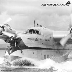 The R.M.A Ararangi Flying Boat surfing the waves! ‪#‎FlashbackFriday‬.#Jorgenca