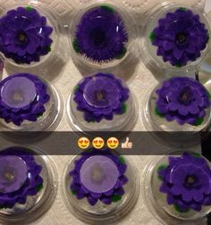 Flores Moradas 3D