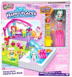 New Happy Places Shopkins Home Pool And Sun Deck Lil' Shoppies Petkin Playset Shopkins Happy Home, Shopkins Gifts, Shopkins Happy Places House, Shopkins Happy Places Disney, Shopkins Playsets, My Mini Mixieqs, Shopkins And Shoppies, Deck, Happy House