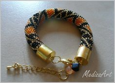 Bransoletka  Black-Gold-Orange