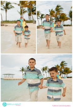 A Beach Escape with a family of four in the Turks and Caicos with Brilliant Studios