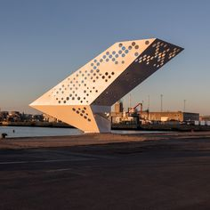 Dorte Mandrup builds perforated observation tower in Aarhus