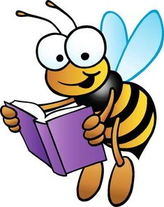 Book Bee is a competition between schools which takes place in the Archdiocese of Louisville in the spring of each year. I searched for this on /images Bumble Bee Clipart, Honey Bee Facts, School Clipart, Spelling Bee, Bee Art, Crochet Books, Bee Happy, Bees Knees, Guided Reading