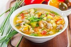 Caldo de Pollo is a chicken soup that is easy to make, freezes well, and a delight to the senses. Even more, chicken soup reduces inflammation. So healthy! Turkey Vegetable Soup, Bean And Vegetable Soup, Healthy Soup Recipes, Healthy Snacks For Kids, Healthy Eating, Homemade Chicken Soup, Chicken Soup Recipes, Soups And Stews, Stuffed Peppers