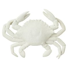 Create a coastal-chic focal point in your foyer or den with this striking wall decor, featuring a crab silhouette in a crisp white finish.  ...