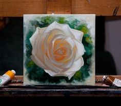 White Rose, Oil Painting, by Vincent Keeling