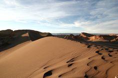 Dunas no Vale da Lua, deserto do Atacama, Chile