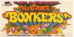 "BONKERS - 1978  ""It's zany, it's unpredictable."" Vintage Board Game.  www.BrassTacksEvents.com www.facebook.com/BrassTacksEvents www.twitter.com/BrassTacksEvent"